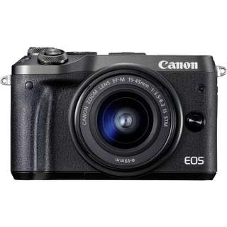 Canon Eos M6 with Ef-m 15-45 lens kit