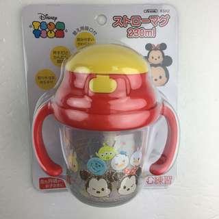 🚚 日本迪士尼正版TsumTsum寶寶吸管彈跳雙耳水杯