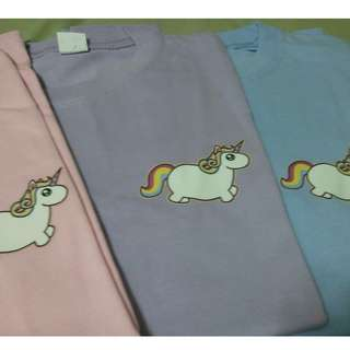 Pastel Korean Unicorn tees