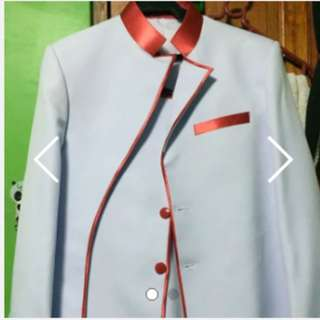 White/Red Suit for Men: BRAND NEW