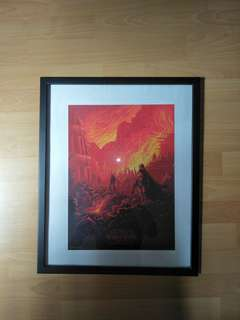 Star wars poster with frame