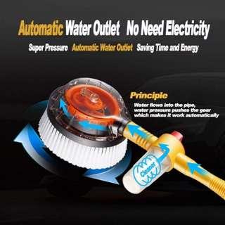 Self Rotating Car Bubble Wash Microfiber Brush Sponge Water Clean Gun