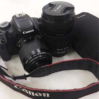 Canon EOS 700D with two lenses