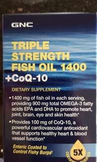 Wts GNC triple strength fish oil 1400 + coq-10