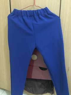 jogger biru karet