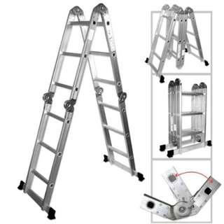 8/12/16/20/24 Steps Aluminium Folding Ladder Tangga Lipat