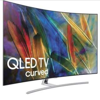 Samsung QED 65' Curved TV