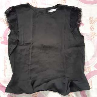 Zara open-back blouse