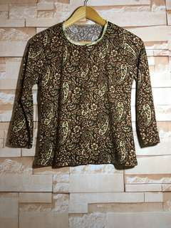 Brown paisley Sweater