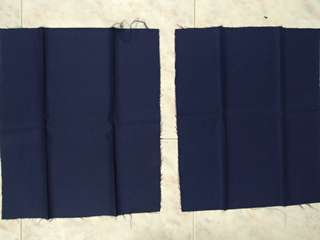 2 new pieces dark blue fabric not cotton