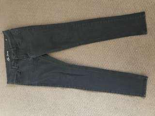 Close to black blue skinny jeans