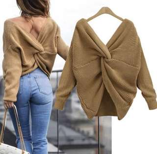 Oversized Knot Top/Sweater