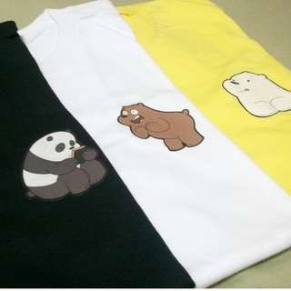 We Bare Bears Korean tees