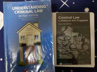 Understanding Criminal Law by Chandra Mohan and Criminal Law in Singapore and Malaysia