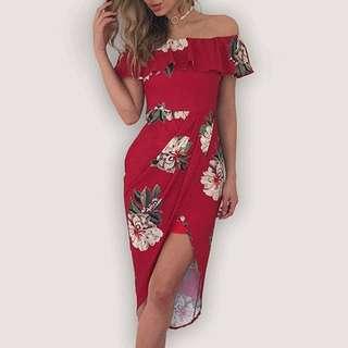 🧡 Off shoulder dress