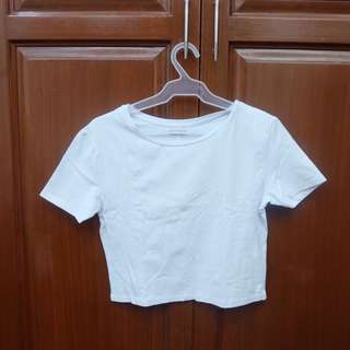 white crop top from Zara