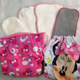 BUNDLE! 2 Cloth Diapers + 6 inserts