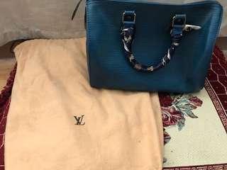 Louis Vuitton Epi Blue Speedy 25
