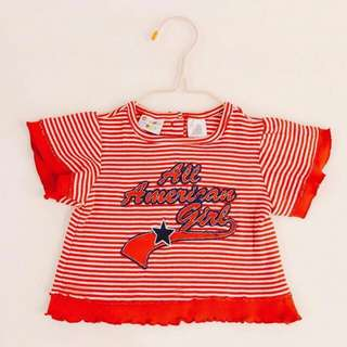 🚚 003A 小女生可愛上衣 6-9個月