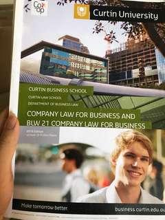 Curtin University Company Law Prafula Books