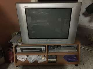 Philips TV, LG DVD player, Philips VCR Player