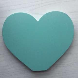Typo Mint Wooden Heart