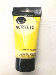 Daler Rowney Simply Acrylic Paint Lemon Yellow
