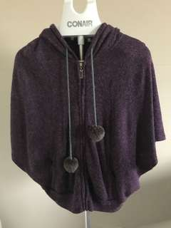 Dark purple 3/4 long sleeve jacket