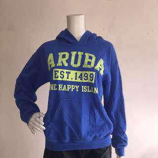 GILDAN blue pullover sweatshirt with hood small