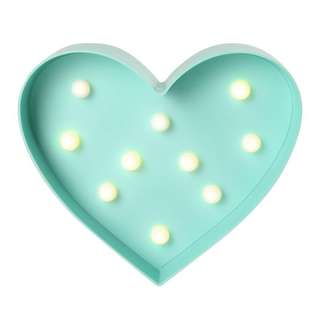 Typo Marquee Light Mint Heart