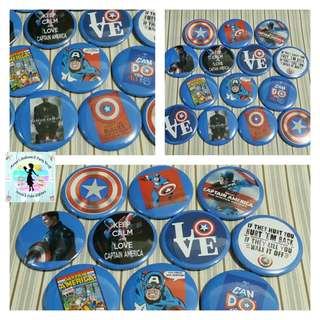 Button Pins as Party Giveaways (could be any party theme) - 40 pcs
