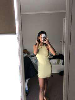 Mini Yellow Halterneck Dress