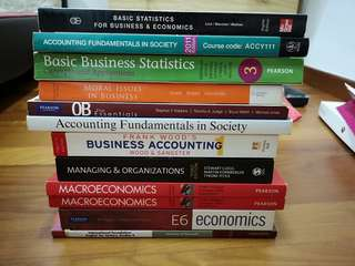 Business/Finance/Accounting Major textbooks