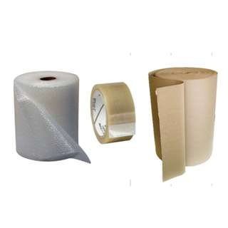 House moving material :PVC tape/Bubble Wrap/Corrugated Paper