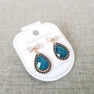 EMERALD GREEN EARRINGS (Import Malaysia Panda Eyes)