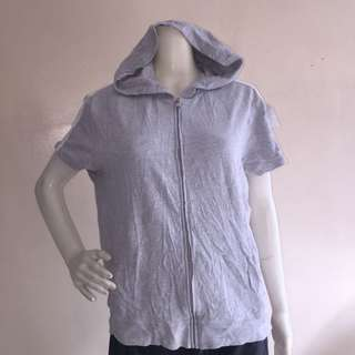 NY&C SPORT plus size gray hoodie with zipper xl