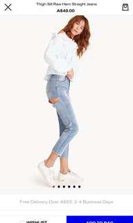 SLIT BACK THIGH JEANS NEW WITH TAG