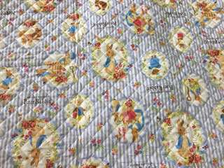 Peter rabbit quilted cotton & waterproof fabric