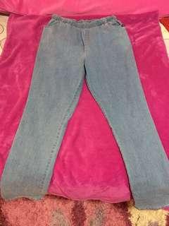 Maong pants and track pants