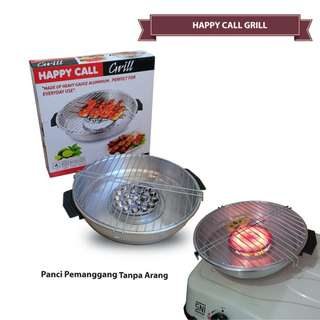 Happy Call Grill Roaster 32 cm MAGIC fancy pan Alat Panggang Tanpa Arang Murah