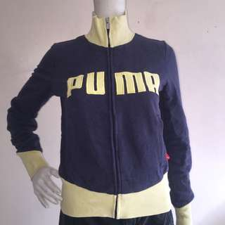 PUMA black zippered pulloiver sweatshirt xs