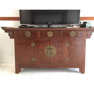Elmwood Ming style Chinese sideboard