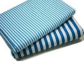 Karpet kain kanvas rugs motif garis biru
