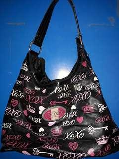 Xoxo black and pink bag and wallet set