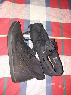 Black highcut shoes