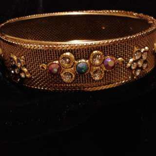 Antique Gold Mesh Bangle