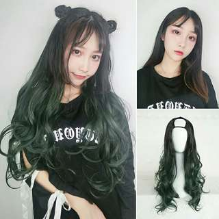 🆕 U shaped Hair Extensions Half Clipped Wig #July50