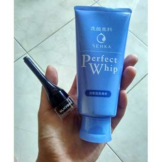 Senka perfect whip + silky girl eyeliner