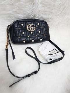 Authentic gucci black pearl