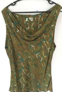Green stylish sleeveless top